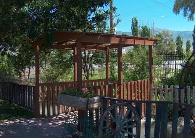 Garden Bridge and Fence
